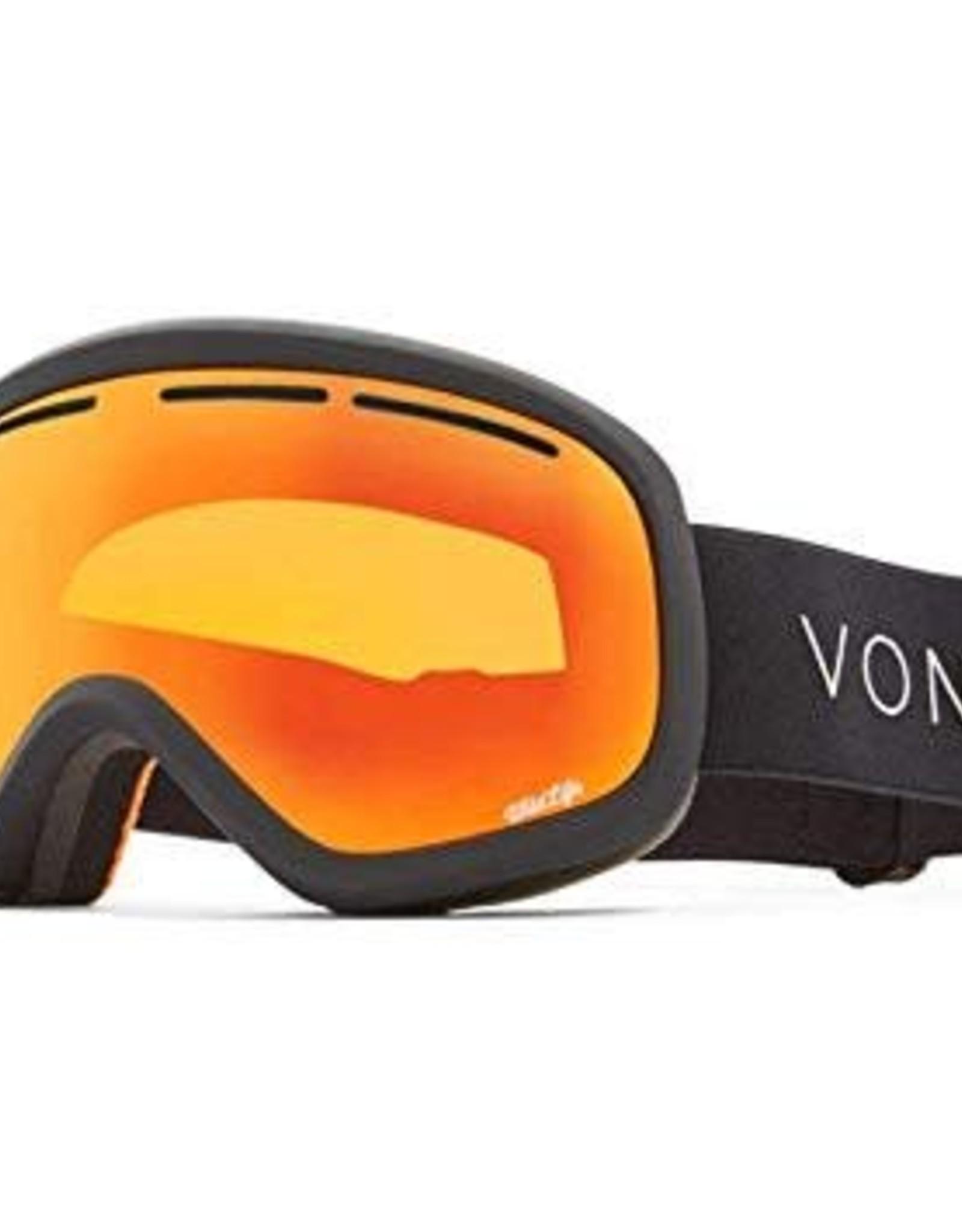 Von Zipper VZ - SKYLAB - Black Satin w/ Fire Chrome + Bonus Lens