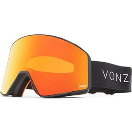 Von Zipper VZ - CAPSULE - Black Satin w/ Fire Chrome + Bonus Lens