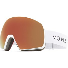 Von Zipper VZ - SATELLITE - White Satin w/ Black Fire Chrome + Bonus Lens
