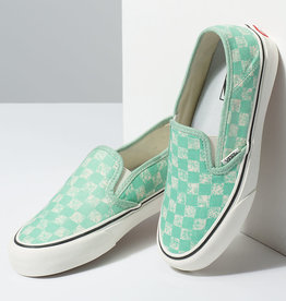 Vans Vans - SLIP-ON SF - (Distessed Checkerboard) - Neptune Green -