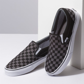 Vans Vans - CLASSIC SLIP-ON - Blk/Pewter Checkerboard -