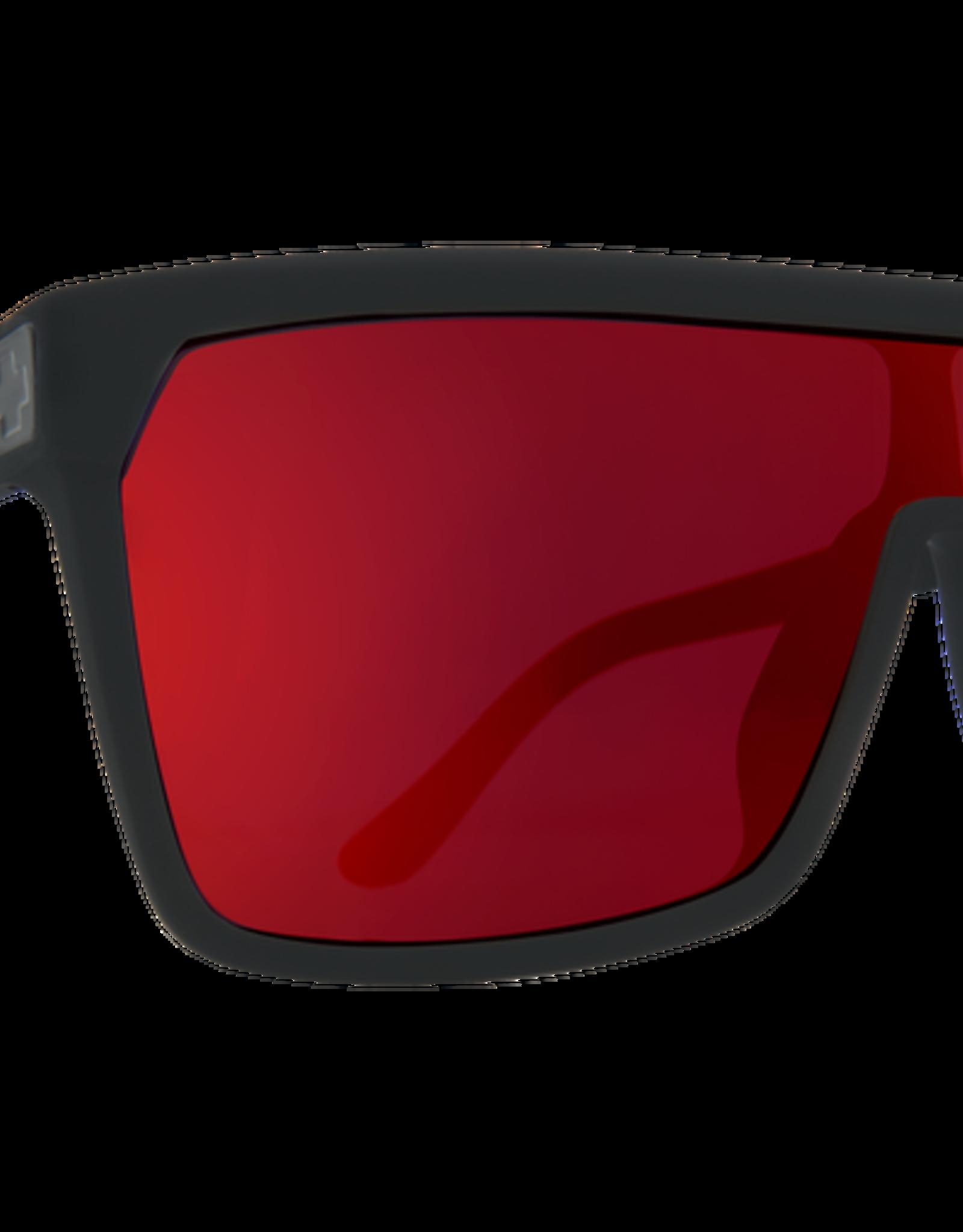 SPY SPY - FLYNN - Matte Black/Red Fade w/ Red Spectra