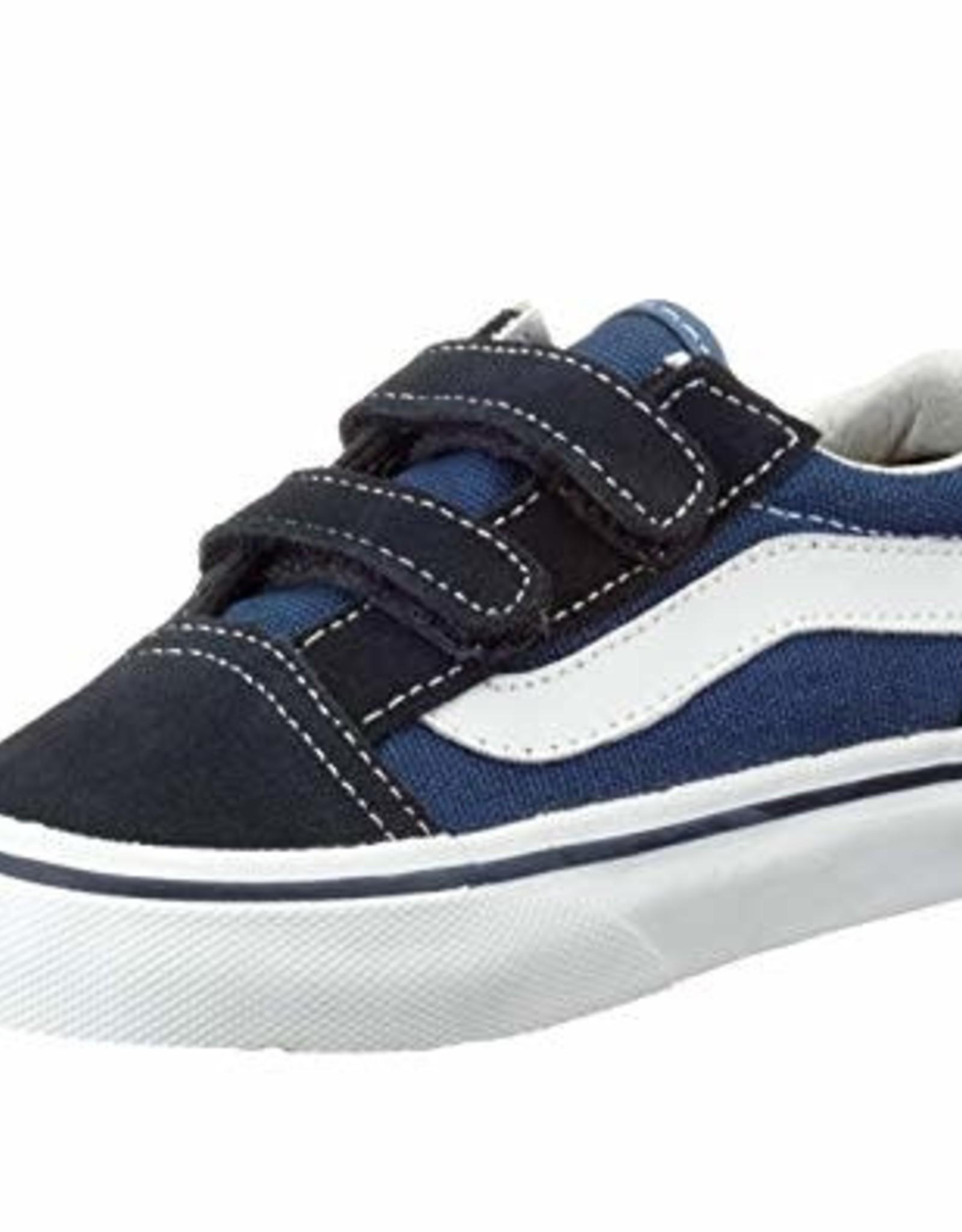 Vans Vans - Yth OLD SKOOL VELCRO - Blk/Wht/Navy -