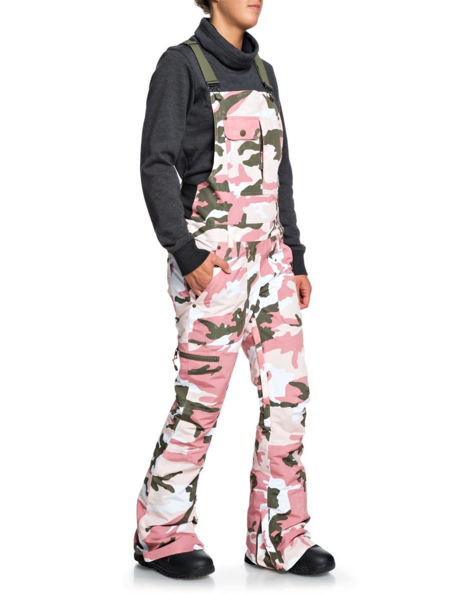 DC DC - Wmns COLLECTIVE BIB PANTS - Rose Camo -
