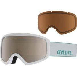Anon Anon - INSIGHT - White w/ Silver Solex + BONUS Lens