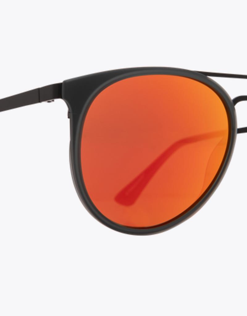 SPY Spy - TODDY - Matte Trans Gry/Blk w/ Red Orange Mirror