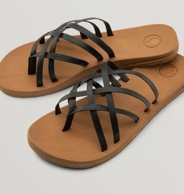 Volcom Volcom - E-CLINER MULTI STRAP SANDAL - BLACK OUT -
