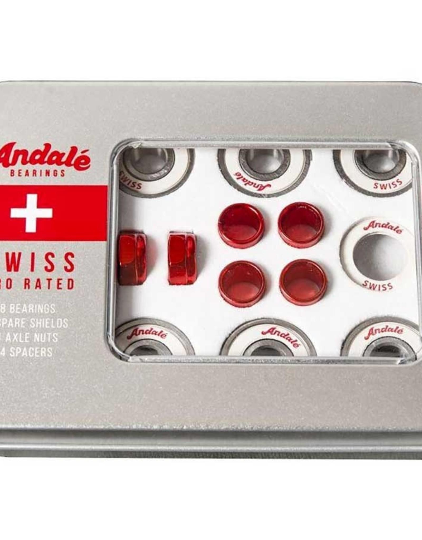 Andale - Skate Bearings - SWISS RED