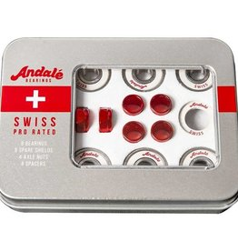 Andale - Skate Bearings - SWISS RED