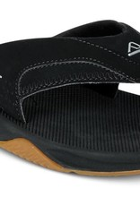 Reef REEF - Mens FANNING Sandals - Blk/Slv -