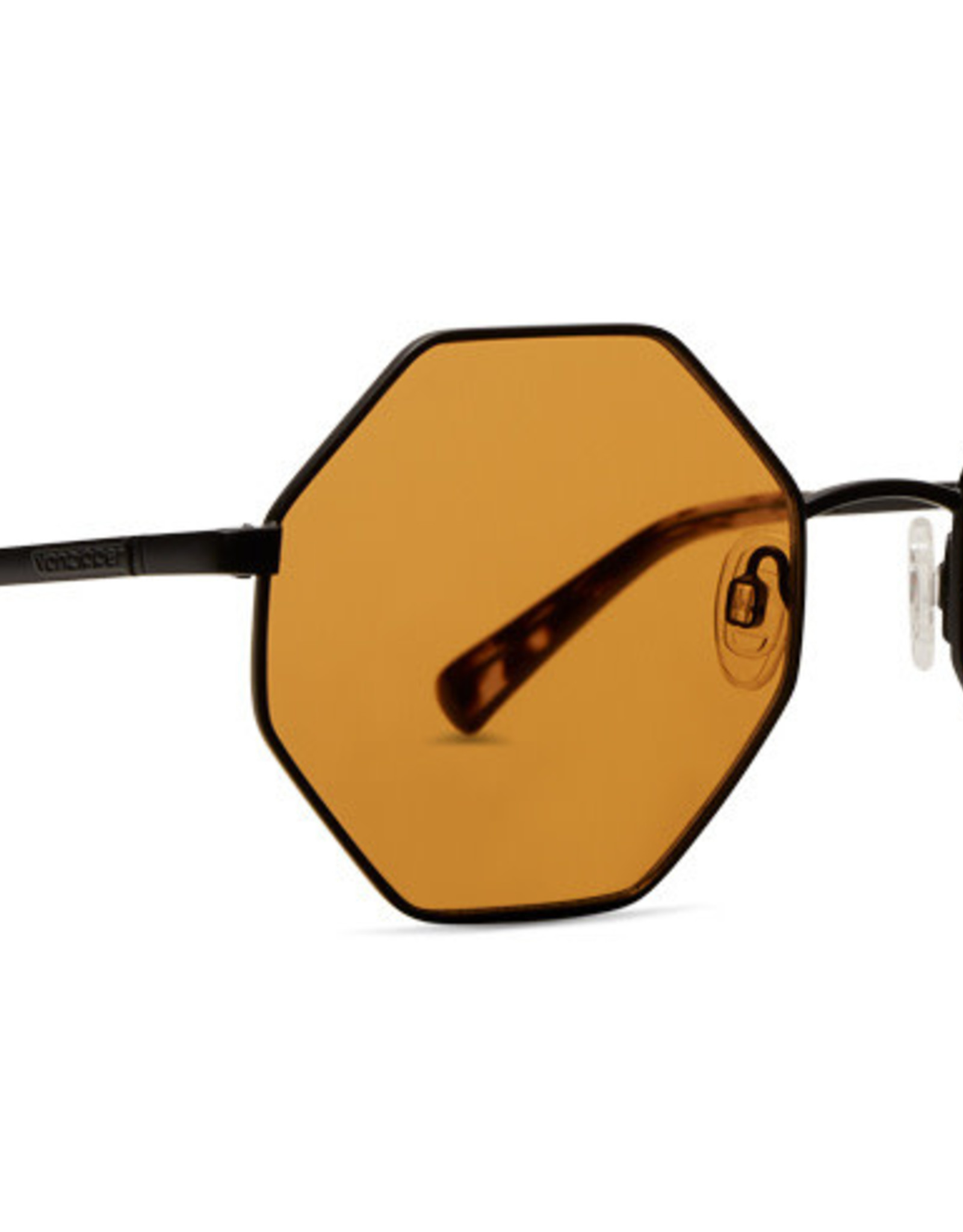 Von Zipper VZ - PEARL - Black Satin w/ Amber Orange