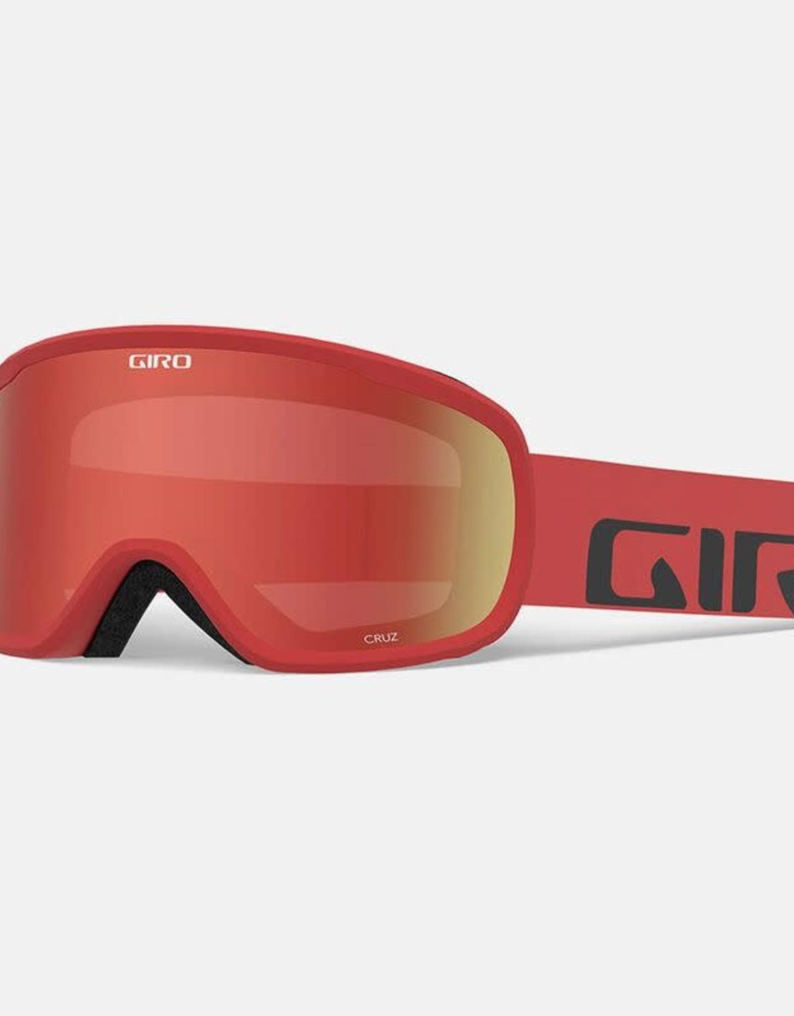 Giro - CRUZ Goggle - Red Woodmark w/ Amber Scarlet