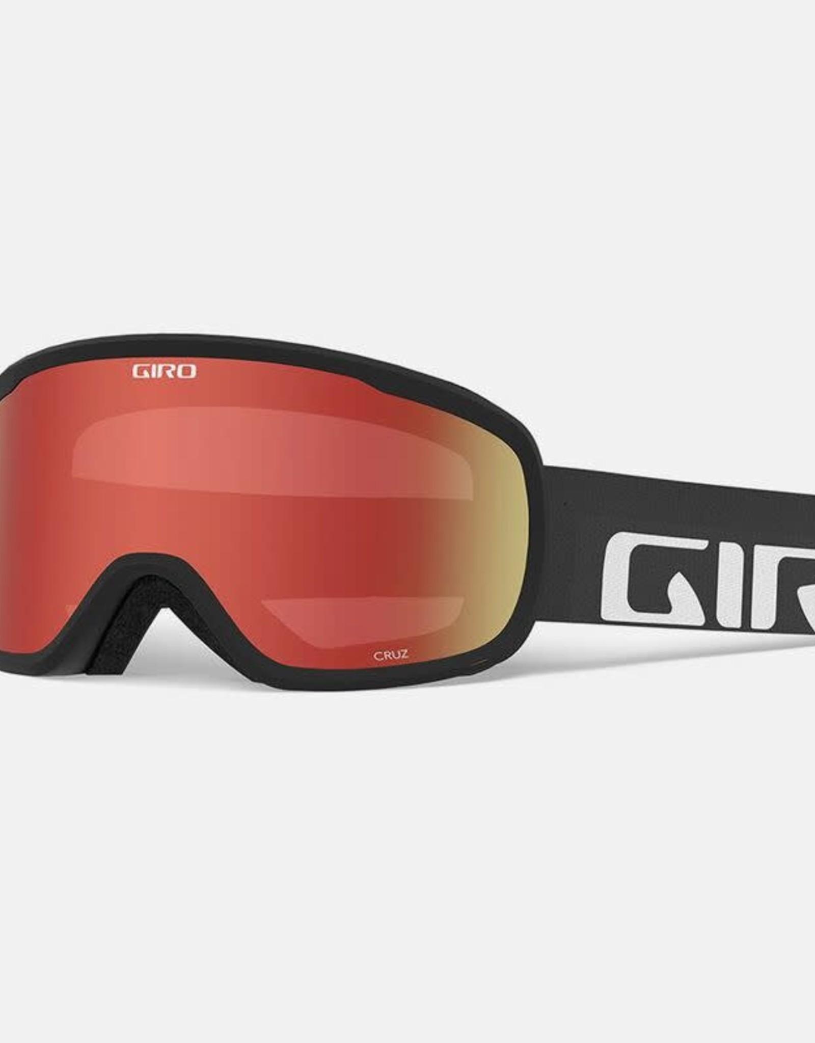 Giro - CRUZ Goggle - Black Woodmark w/ Amber Scarlet
