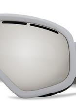 Von Zipper VZ - SKYLAB - White Gloss w/ Silver Chrome + BONUS Lens