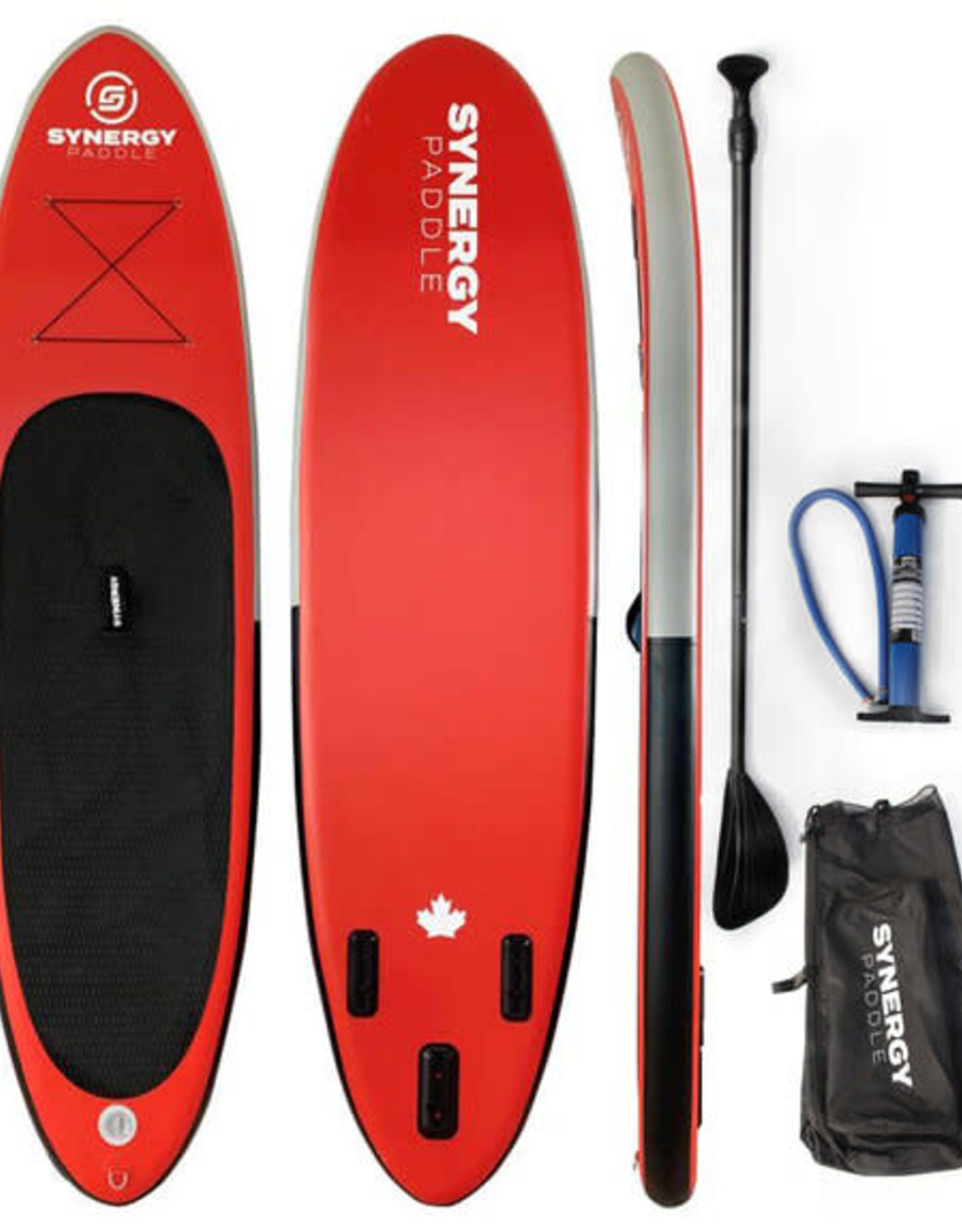 """Coral Sea Coral Sea - SYNERGY Inflatable SUP - 10'6"""" Red"""