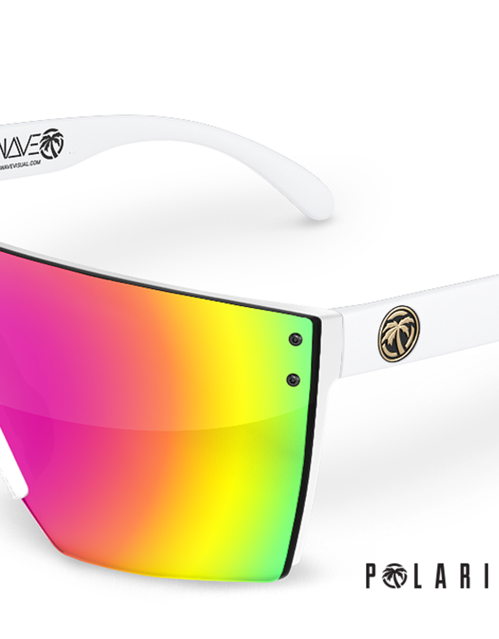 Heatwave Visual Heatwave - LAZER FACE (Z87) - POLAR Savage Spectrum (White Frame)