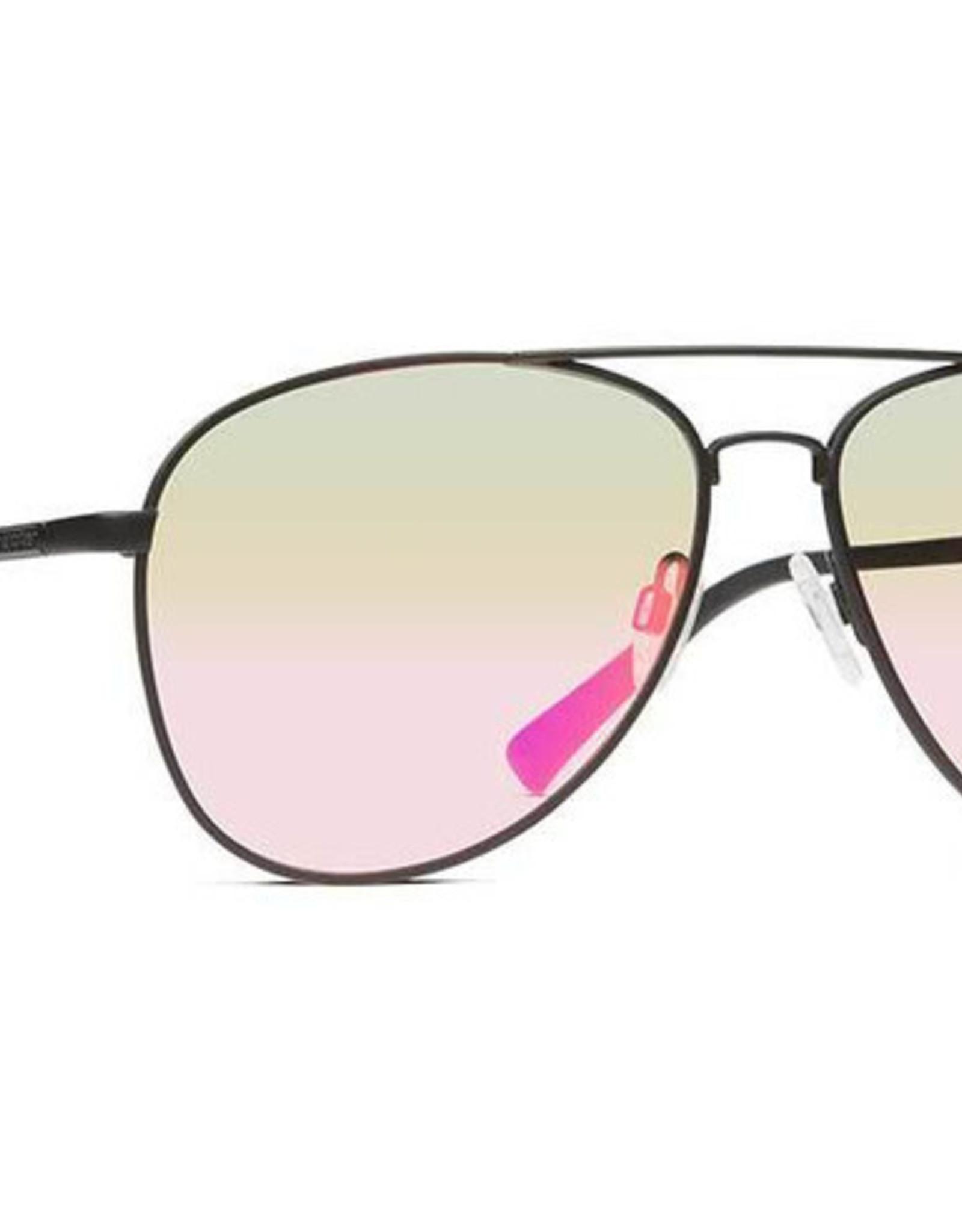 Von Zipper VZ - FARVA - Black Satin w/ Pink Chrome