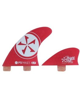 """Phase 5 Phase 5 - REPLACEMENT QUAD FCS SURF FINS - 3.7"""" (4pc) - RED"""