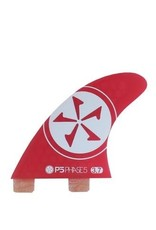 """Phase 5 Phase 5 - REPLACEMENT FCS SURF FINS - 3.7"""" (2pc) - RED"""