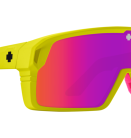 SPY Spy - MONOLITH - Matte Neon Yellow w/ Pink Spectra