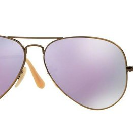 Ray-Ban Ray-Ban - AVIATOR LARGE 58 (167/1R) - Brushed Bronze Demi Gloss w/ POLAR Lilac Mirror