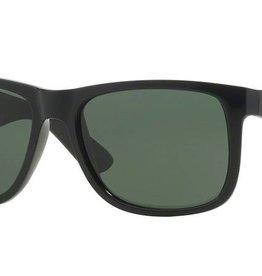 Ray-Ban Ray-Ban - JUSTIN 55 (601/71) - Black w/ Dark Green