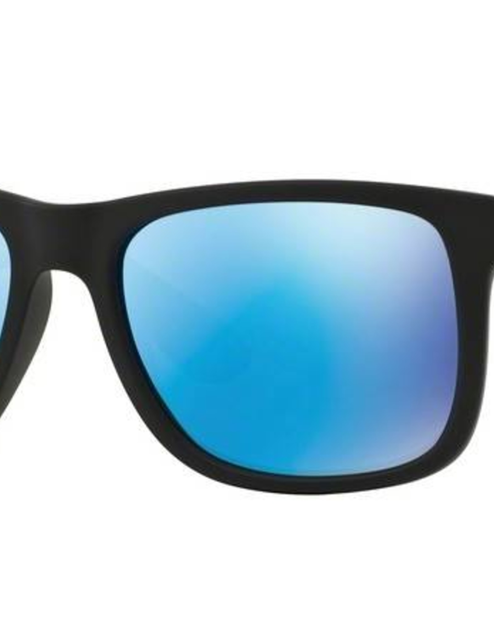 Ray-Ban Ray-Ban - JUSTIN 55 (622/55) - Rubber Black w/ Blue Mirror