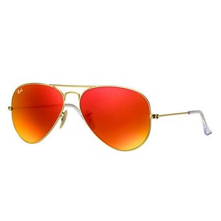 Ray-Ban Ray-Ban - AVIATOR LARGE 58 (112/69) - Matte Gold w/ Orange Mirror