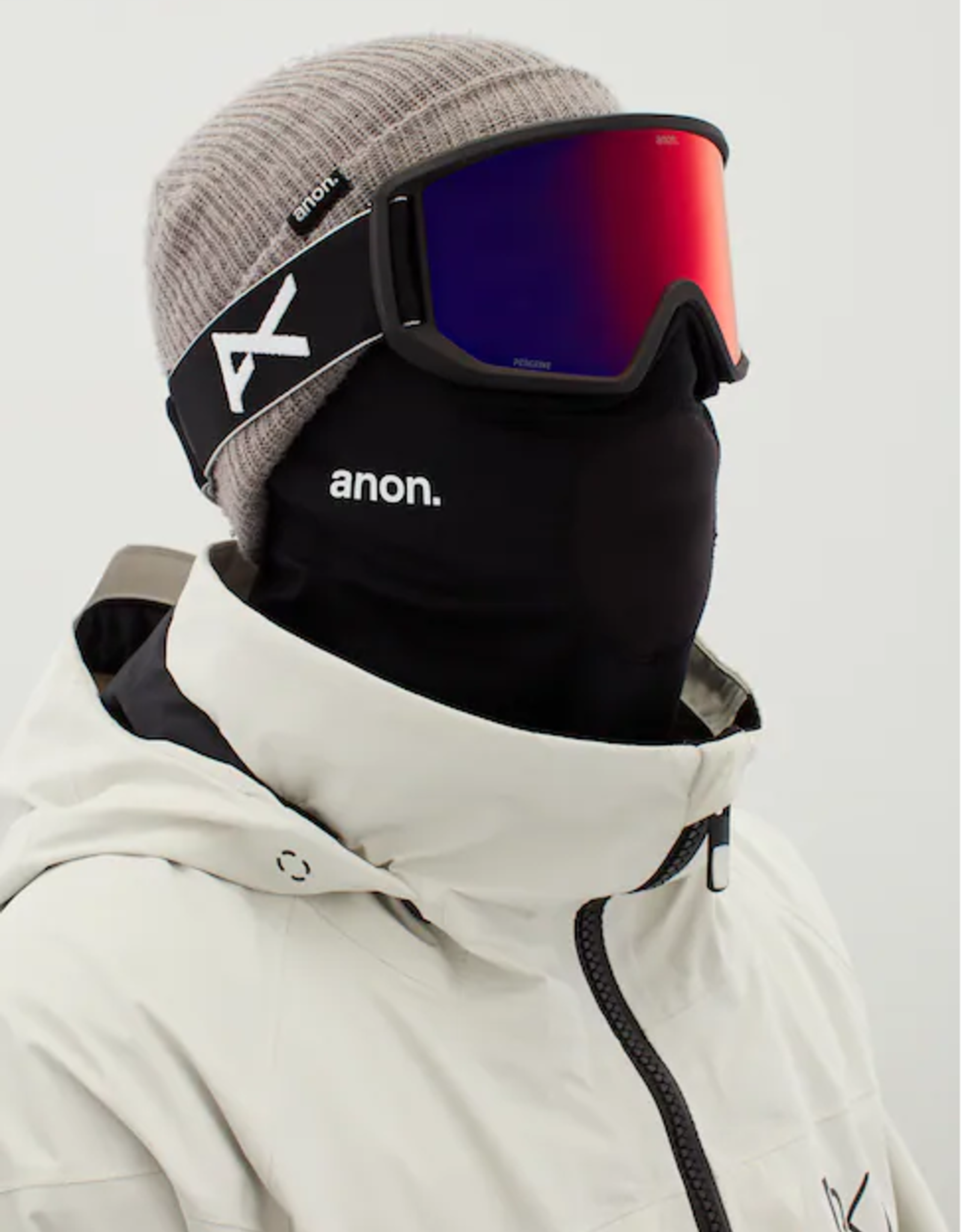 Anon Anon - RELAPSE MFI - Black w/ PERCEIVE Sunny Red + BONUS Lens + Mask