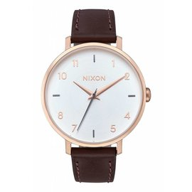 Nixon Nixon - ARROW LEATHER - Rose Gold/Silver