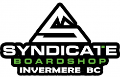 Syndicate Boardshop -Ski rentals Panorama , Invermere , Radium , Fairmont  . Skateboards , snowboard rentals, SUP - Paddle boards, Wake surf, Sunglasses, Shoes, Bikinis