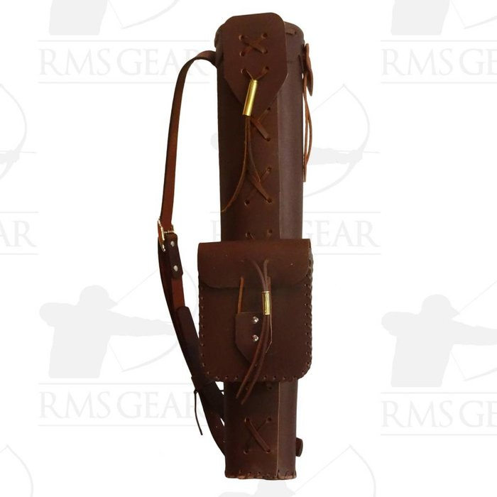 Dark Brown X Quiver with Pocket - DBXGMI