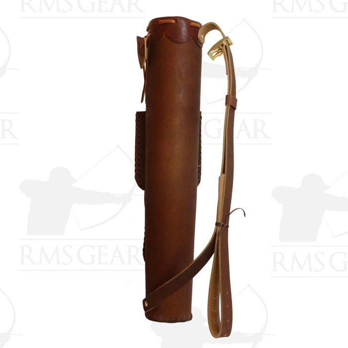 Light Brown X Quiver with 2 Pockets - LBXQMI
