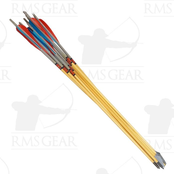 """Used - 27"""", 52# Fletched Wood Arrows - USED2HO"""