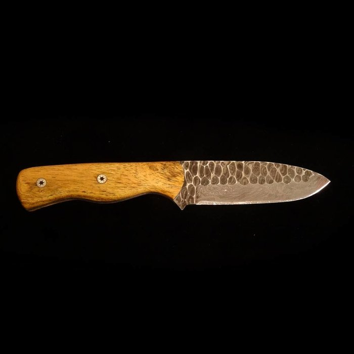 Wolf Track Custom Damascus Knife - WT158DG