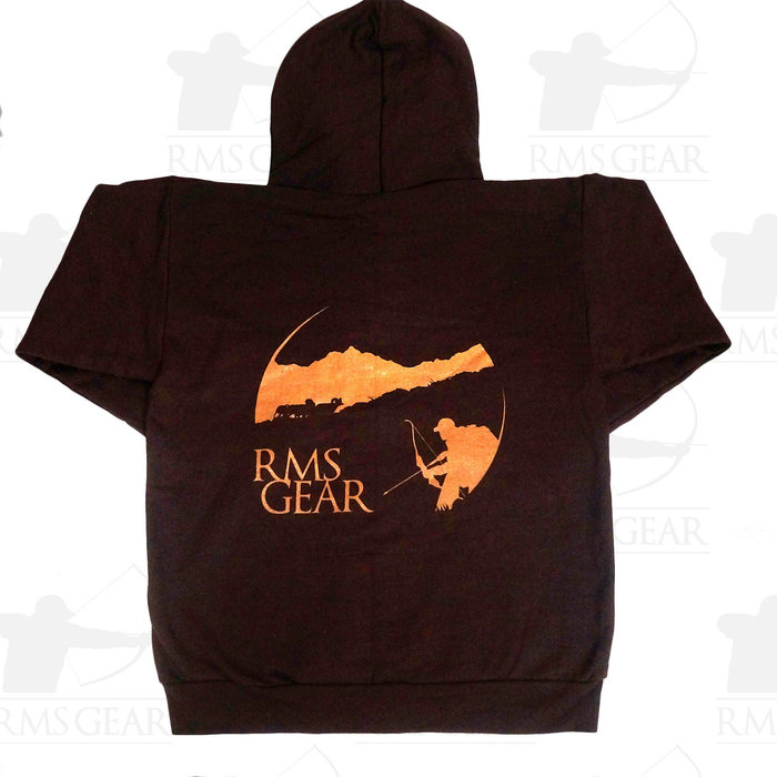 RMSGear Brown Zip-up Hoodie