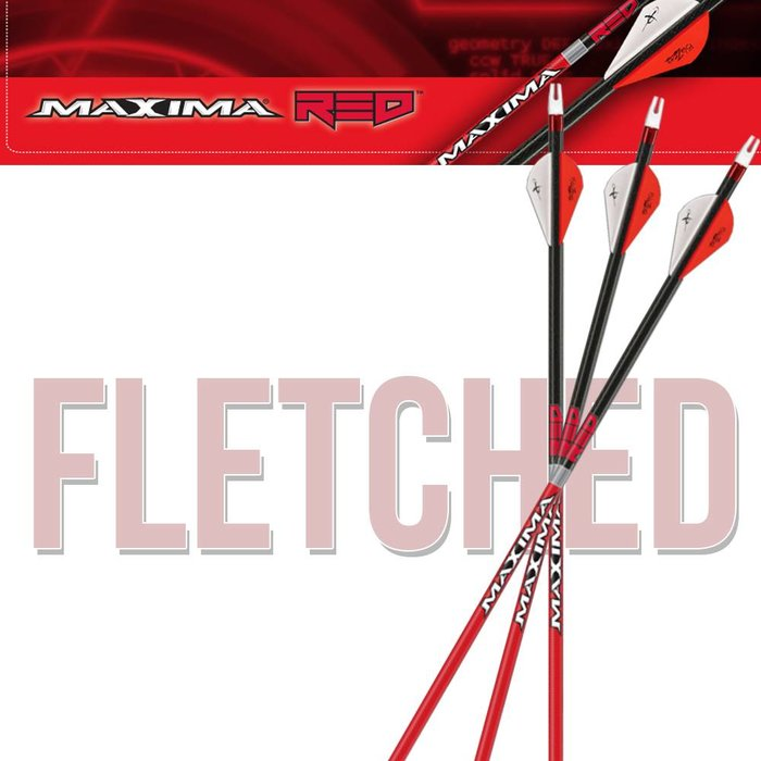 Carbon Express Maxima Red Fletched Arrows