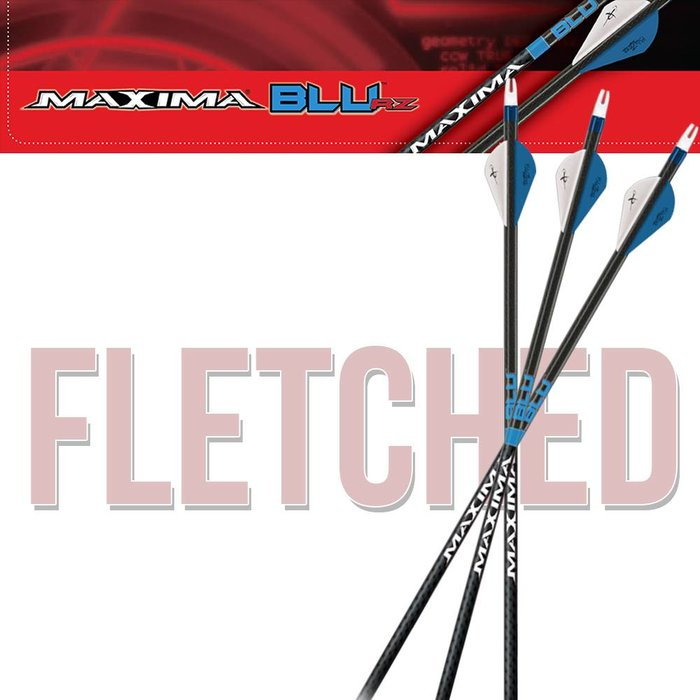 Carbon Express Maxima Blu Feather Fletched Arrows