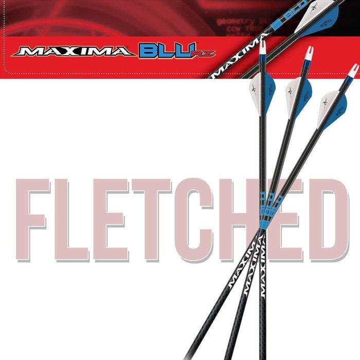 Carbon Express Maxima Blu Fletched Arrows