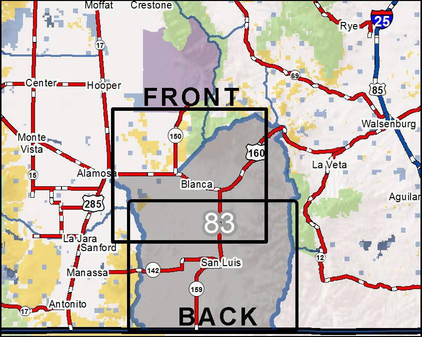 Aguilar Colorado Map.Diy Hunting Maps Colorado Gmu 83 Rmsgear