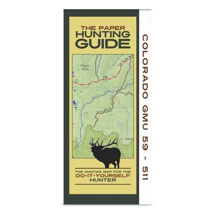 DIY Hunting Map - Colorado GMU's 59-511