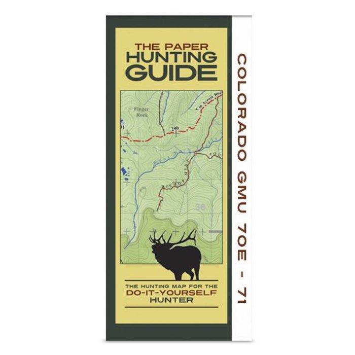 DIY Hunting Map - Colorado GMU's 70E, 71