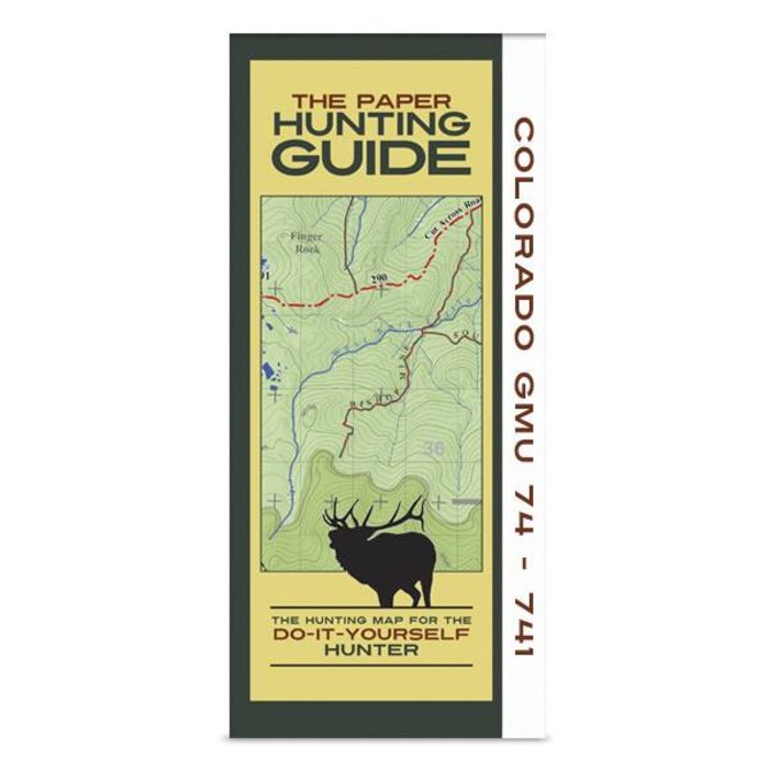 DIY Hunting Map - Colorado GMU's 74-741