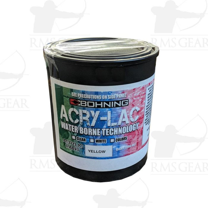 Bohning Acry-Lac Paint - Quart Yellow
