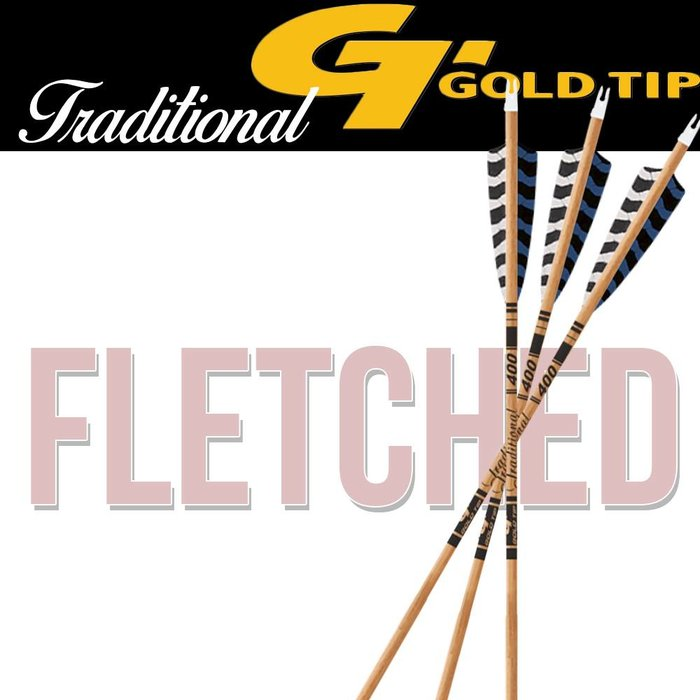 Gold Tip Traditional Fletched Arrows