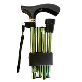 Vista Adjustable Cane Green