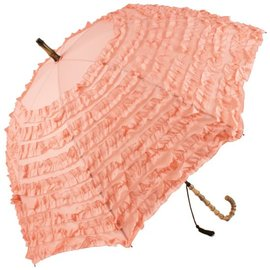 Naysmith Pink Ruffled Umbrella