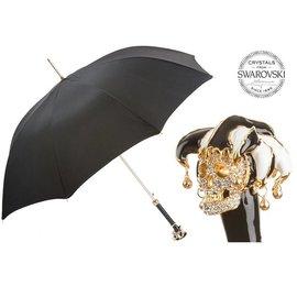 Pasotti Pasotti - Swarovski Jester Skull Umbrella