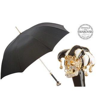 Pasotti Pasotti Italian Umbrella Swarovski® Jester Skull Handle