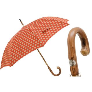 Pasotti Pasotti Copper Hexagon Umbrella with Chestnut Handle
